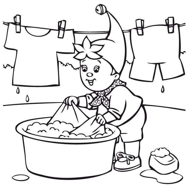 Simples Como Dibujar Una Persona Facil Para Niños Tendiendo Ropa Dibujalia Dibujos Para Colorear Dibujos Para
