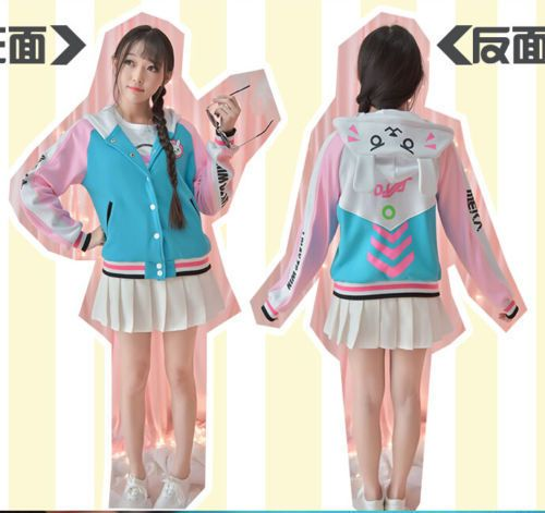 Kawaii-Sweet-Lolita-Game-OVERWATCH-D-VA-Casual-Sweatshirt-Baseball-Jacket-Coat