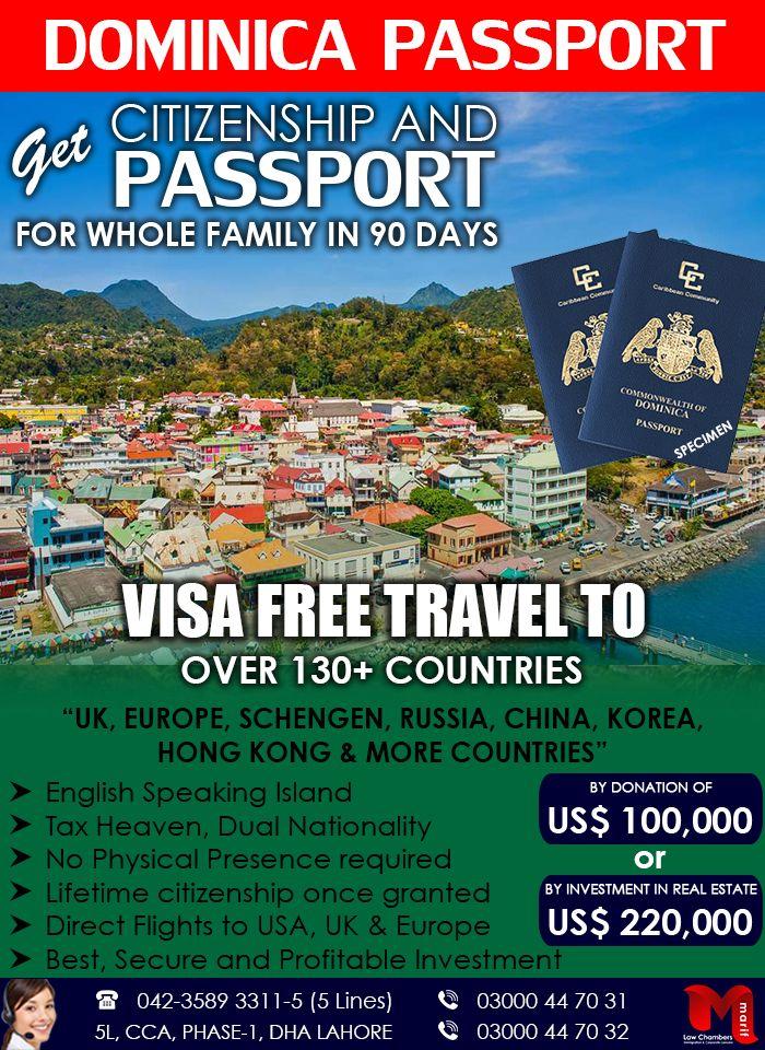 Get Dominica Passport Through Our British Expert Educational Consultant Business Visa Free Travel
