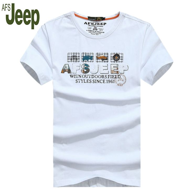 The new Battlefield Jeep 2016 promotional fashion men's short shirt AFS JEEP men's summer loose short-sleeve T-shirt 58 #Affiliate