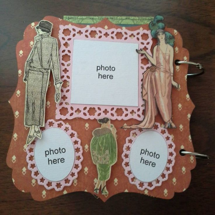 """wooden album using G45 paper """"Couture"""""""