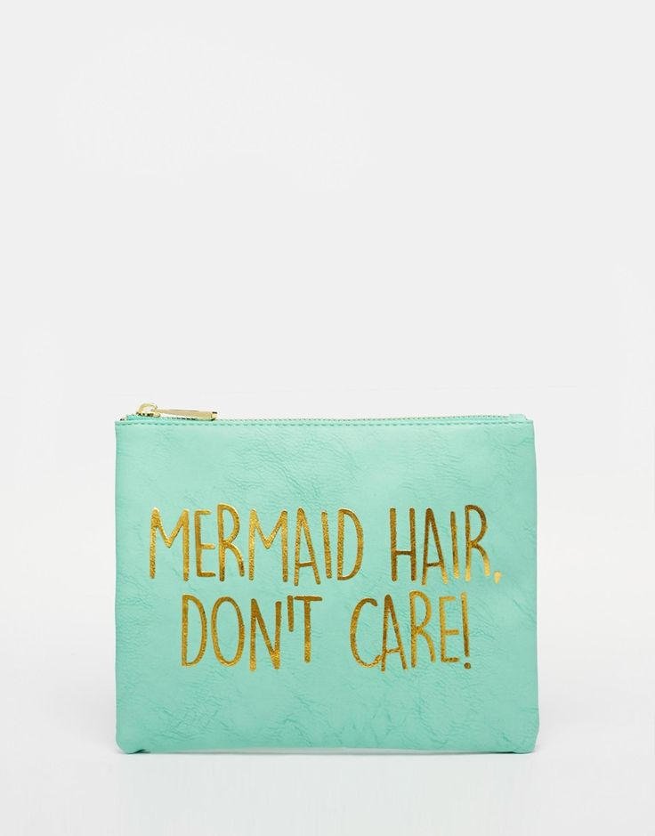 ASOS+Mermaid+Slogan+Make+Up+Bag