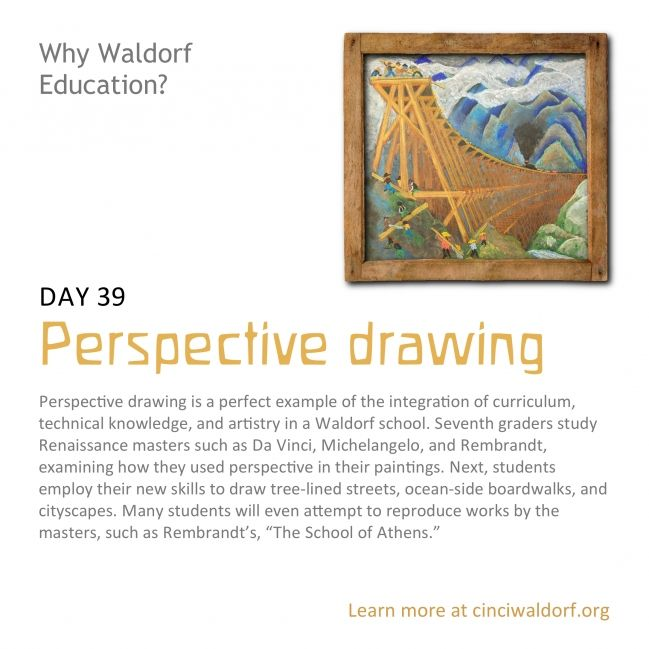 Day 39: Perspective drawing: Perspective Drawings, Drawings Perspective, Waldorf Drawings, Drawing Oil Wat