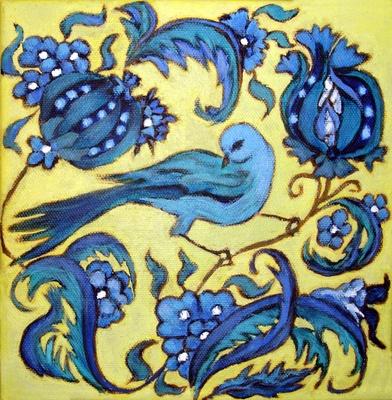 Lime Bird iznik ceramics
