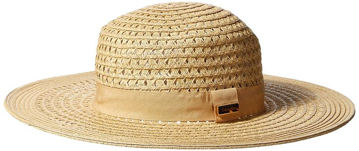 $33 Calvin Klein Women's Vented Boater Hat, Natural, One Size at Amazon Women's Clothing store: