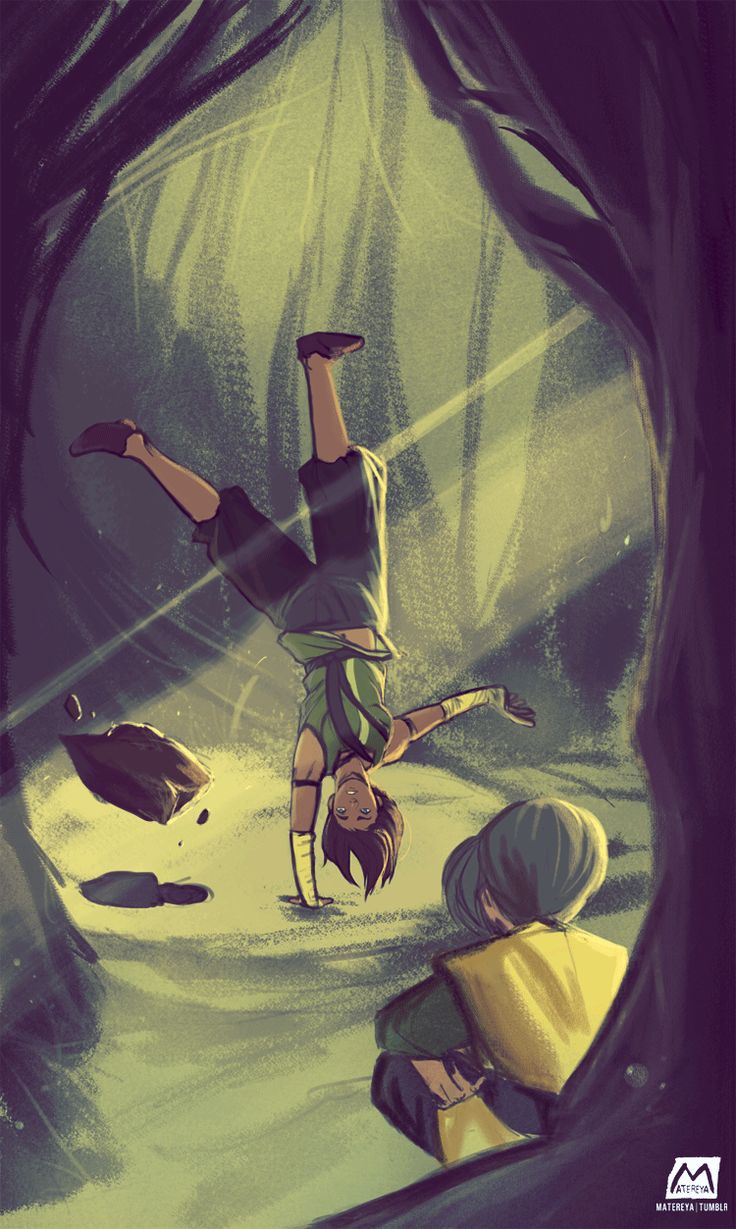Okay, I have to admit...I did this weird wheezing sound for like five minutes when I saw Toph for the first time in this series. LOL I love how she's become a swamp hermit.