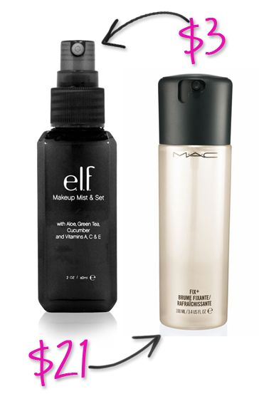 Tons of expensive products that you can easily replace with ELF products
