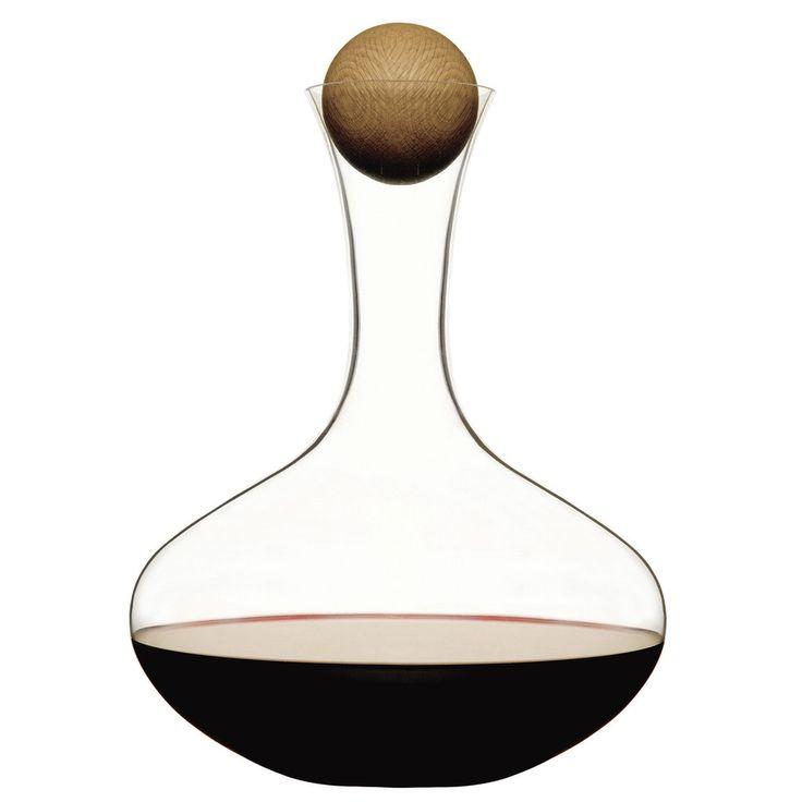Oval-Oak Wine Carafe By Sagaform Sweden