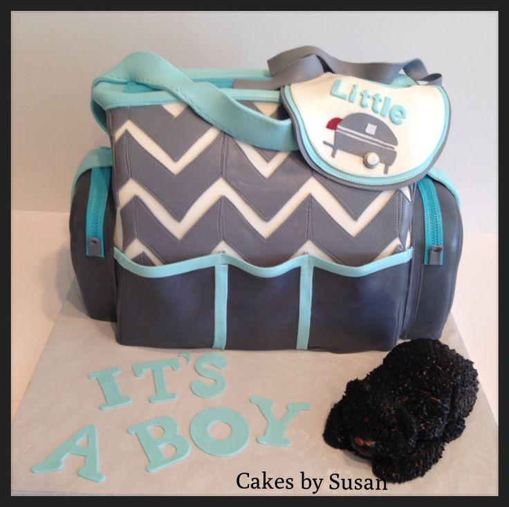 diaper bag cake, chevron,diaper bag cake, chevron   share