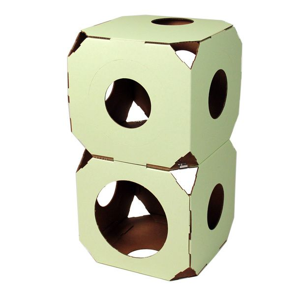Cats love boxes-- Catty Stacks Green 2 Pack