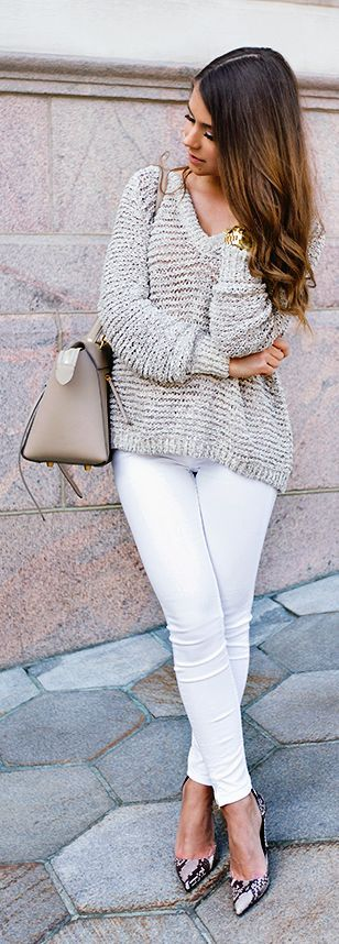 Light Grey Loose Sweater by Mariannan