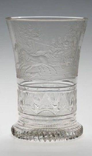 Graveur: Dominik Biemann (?), Böhmen, um 1830 Manufaktur: Gräflich Harrach'sche Glasfabrik,