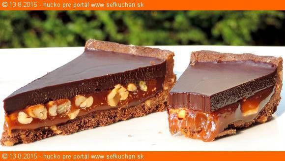 Karamelovo čokoládový happyend Na tento koláčik netreba vidličku ani lyžičku a je tak brutálne čokoládový, ako máločo Ingrediencie Piškóta: 250 g PH múka 30 g preosiaty kakaový prášok 1/4 čl soli väčšia štipka 60 g kr. cukor 40 g -50g strúhané arašidy 110 g zmäknuté klasické maslo 2 PL studenej vody Karamelová vrstva: 275 g …