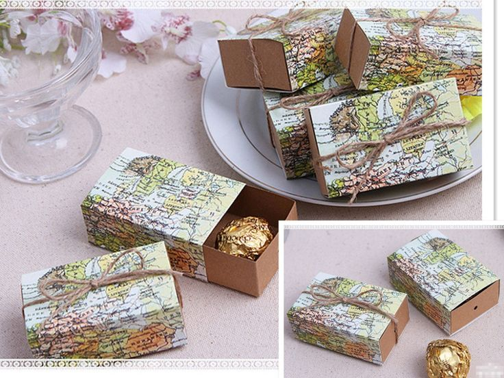 """Aliexpress.com : Buy 2015 Wedding Sweet Box   """"Around the World"""" Map Favor Box for traveling theme party baby show candy gift box 60pcs/lot from Reliable box cupcake suppliers on Love cabin  