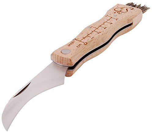 Esschert Design Mushroom Knife with Brush * Click image for more details.
