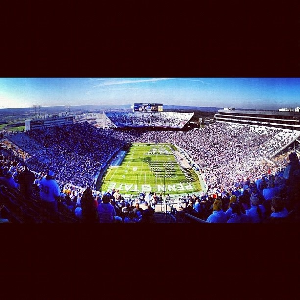 Beaver Stadium during the Wisconsin game, 11/24/12. (Photo from Search Instagram)