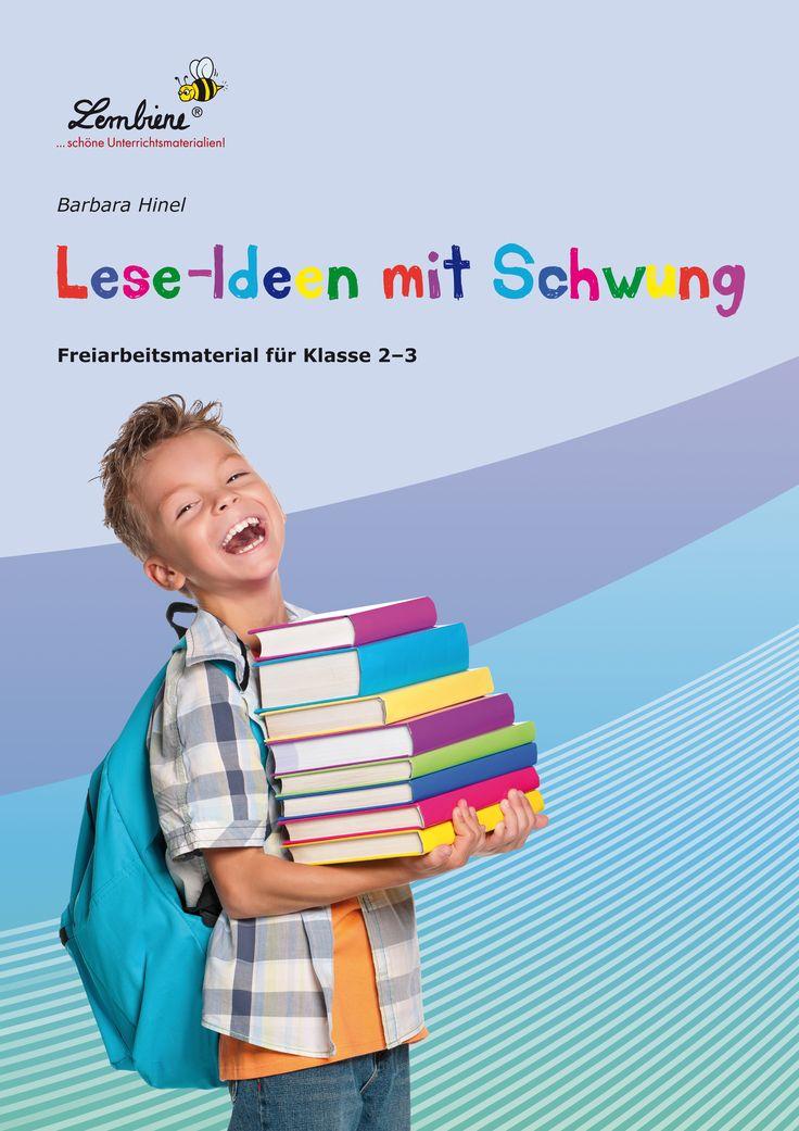 """Das Material """"Lese-Ideen mit Schwung"""" bringt nicht nur Schwung in das Klassenzimmer, sondern auch in das Lesen. Da durch Bewegung und mit Spaß leichter gelernt wird, enthält das Material Spiele, die zur Aktivität auffordern. Es lässt sich auch in kleineren Gruppen oder im Einzeltraining (z. B. im Förderunterricht) einsetzen und ist schwerpunktmäßig für die Klassen 2–3 konzipiert. #Lernbiene #Grundschule #Unterrichtsmaterial #Deutsch #Lesen"""