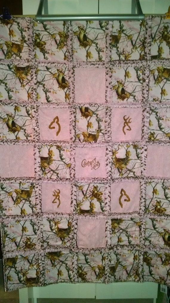 Custom Realtree Pink Camo Rag Quilt Your Choice Of