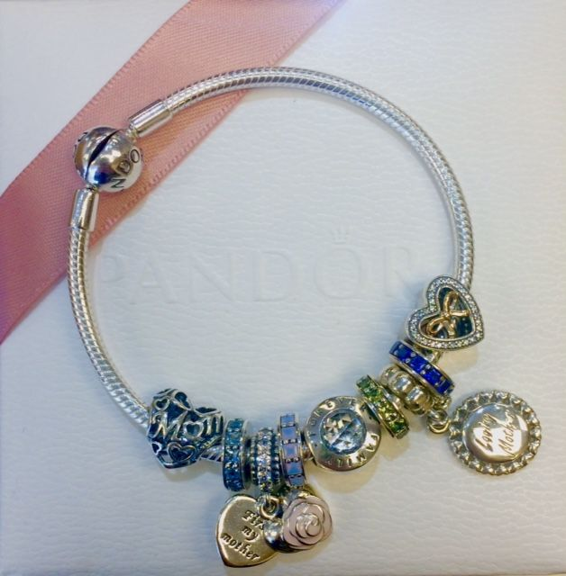 PANDORA inspiration from Bradshaw's Jewelers- Mother's bracelet with  spacers for children's birthstones