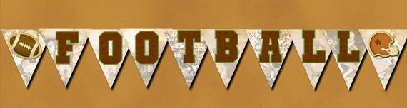 Vintage Football FOOTBALL Banner Bunting Instant by topsandbottles, $7.00