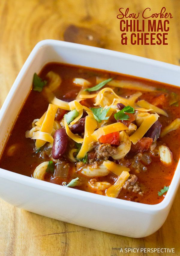 The Best Slow Cooker Chili Mac and Cheese Recipe   ASpicyPerspective.com