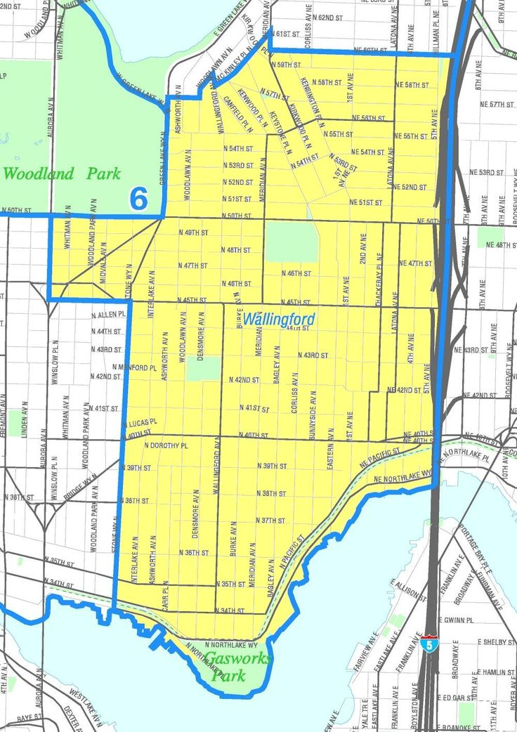 Wallingford map, Seattle neighborhood (With images) Map