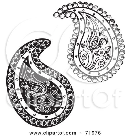 Bandana Print Tattoo Sale Paisley Tribal Black