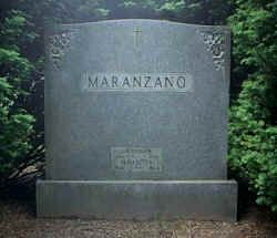 "Headstone of ""Little Caesar"" Salvatore Maranzano."