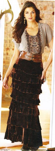 Discovered this designer today and it's so my style!!  Wish I had this skirt for Enola's wedding this month!!