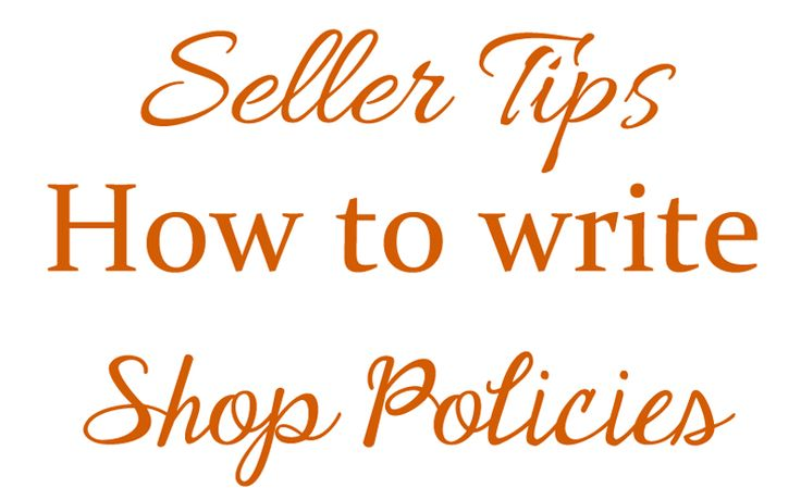 The House of Mouse Etsy Sellers tips - How to write Etsy Shop Policies