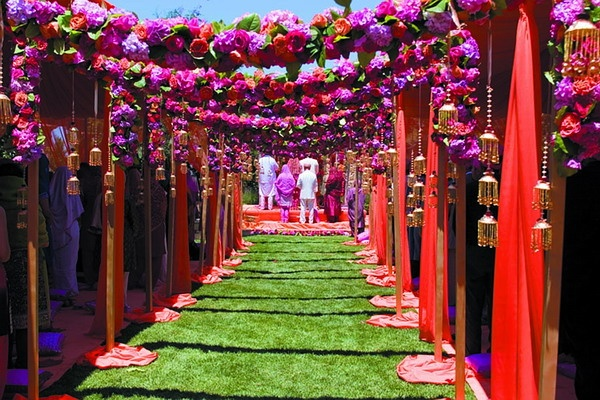 An Indian Mandap, where wedding ceremonies are held