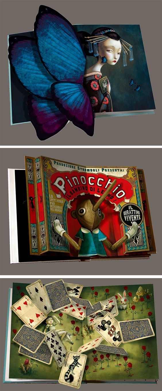 A new pop-up book by Benjamin Lacombe: Il etait une fois | Click for full post! #popup #book