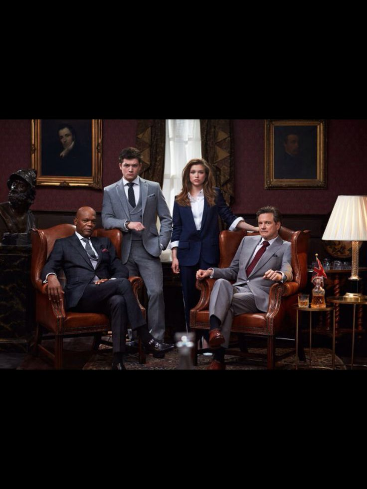Taron Egerton, Sophie Cookson, Colin Firth and Samuel Jackson