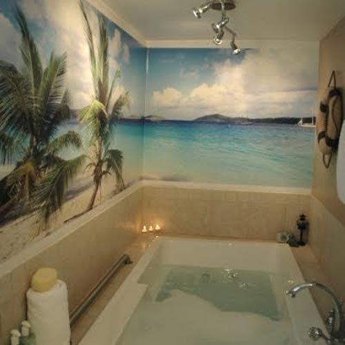 Wall mural ideas for bathroom!