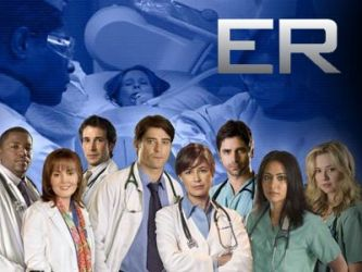 ER Thursday nights on NBC. The show had 15 seasons and 332 episodes air between 1994 and 2009