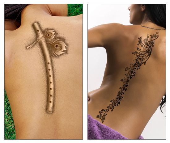 Tattooz Designs Back Tattoos: Flaunt Your Back: Awesome Spine Tattoo Design Ideas For