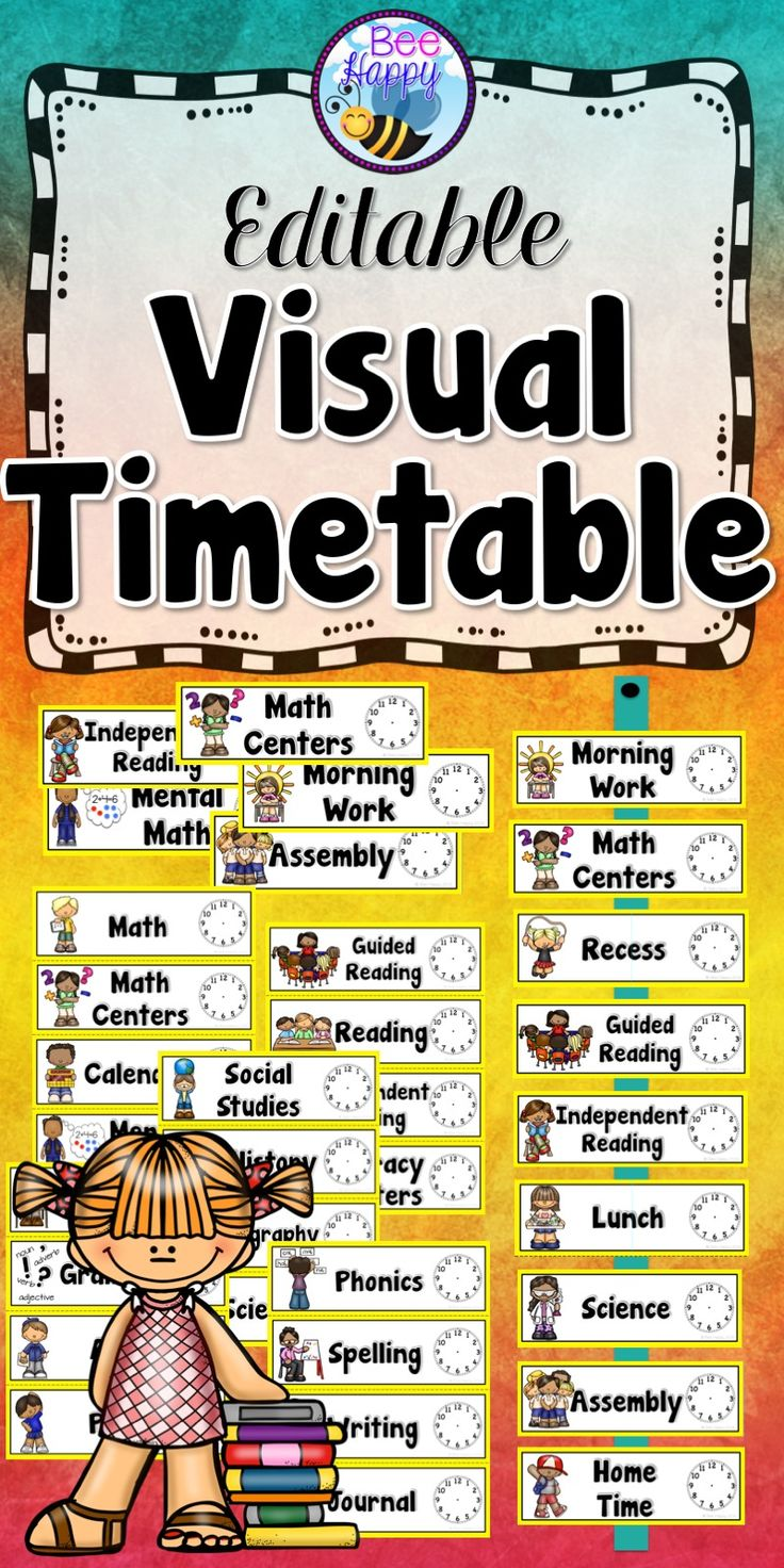 1000+ ideas about Visual Timetable on Pinterest | Visual Schedules ...