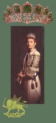 Princess Shahnaz Pahlavi Official Portrait and Tiara (1970's) The Shah's First Child and daughter to his first Wife Princess Fawzia of Egypt. Despite being the Shah's first born daughter Shahnaz Pahlavi could not be Crowned Queen according to the Iranian Constitution of the Time that required a male heir to the Throne of Iran. The Princess' Tiara is seen above and is part of the  Treasures of Iran's National Bank and Museum.