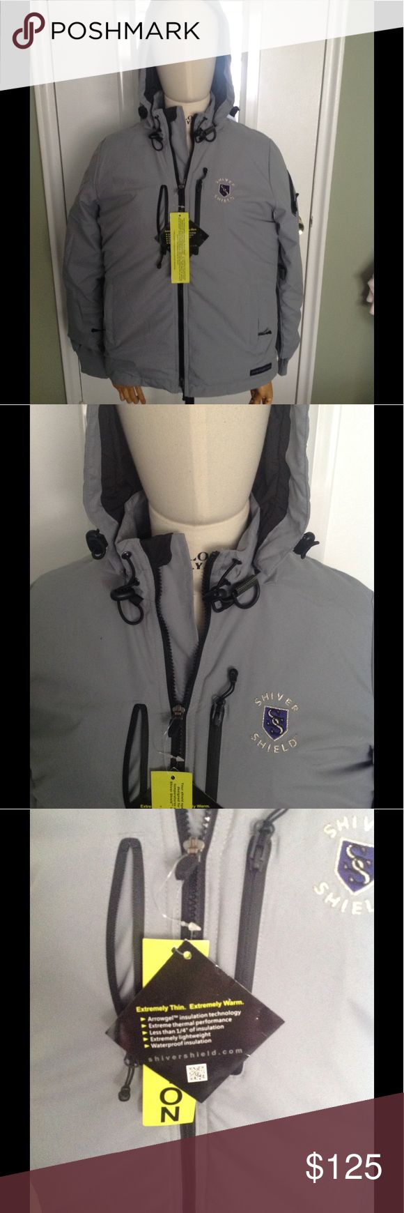 Extreme cold jacket Shrivel Shield is a jacket built for extremely cold weather . Light , with a hood. Get a hold of this new technology and make an offer today ! shiever shield Jackets & Coats Performance Jackets