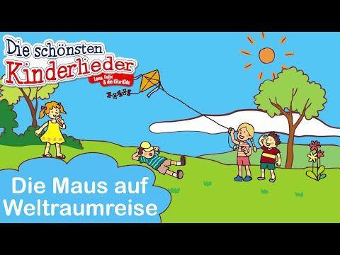 Kinderlieder zum mitsingen - Die Maus auf Weltraumreise   inkl. Songtext - YouTube