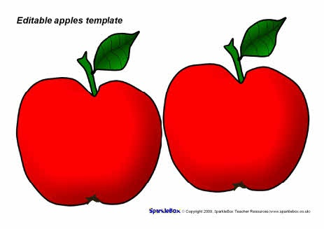Editable apples template - red (SB4790) - SparkleBox