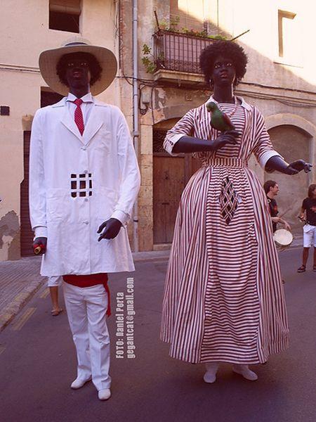 Gegants Negritos de Tarragona.