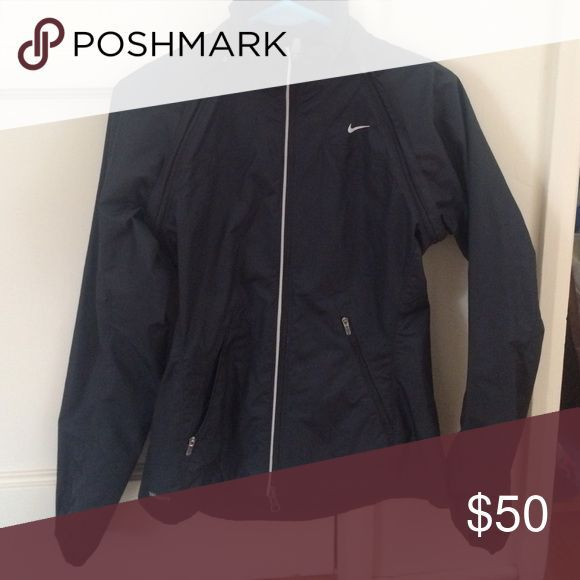 Nike running rain jacket This Nike rain jacket is lightweight, has removable sleeves to turn into a vest, and is perfect for running. Nike Jackets & Coats