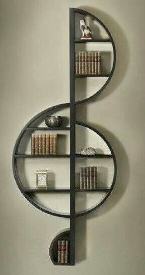 bookshelf. I'd love one of these on my wall.