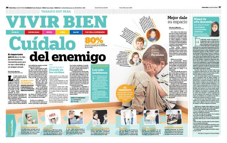 Paginas de para la sección de Vivir bien del Diario Tabasco Hoy del 30/01/12.