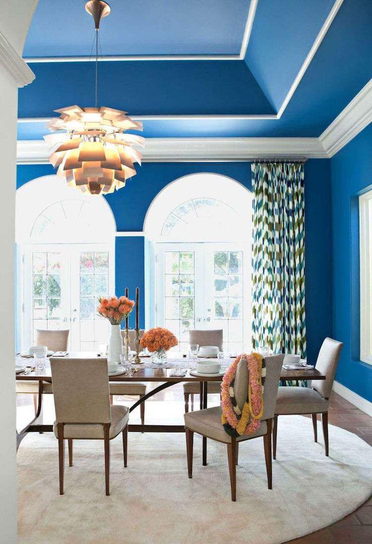 Deckengestaltung für die wohnhalle esszimmer und essplatzdekoration  auf welche farben und
