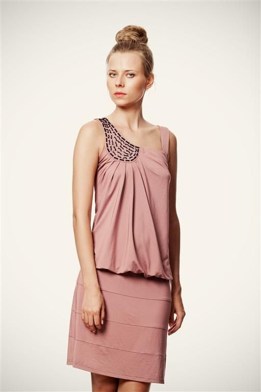 50 SALE Party in Pink Dress with Black Beaded by VandaFashion, $50.00