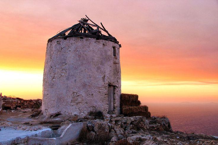 Sikinos old windmill, Greece- by Ilias Tz