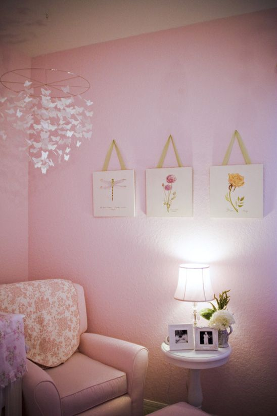 Best Pink Nursery Images On Pinterest Home Baby Room And - Light pink nursery decor