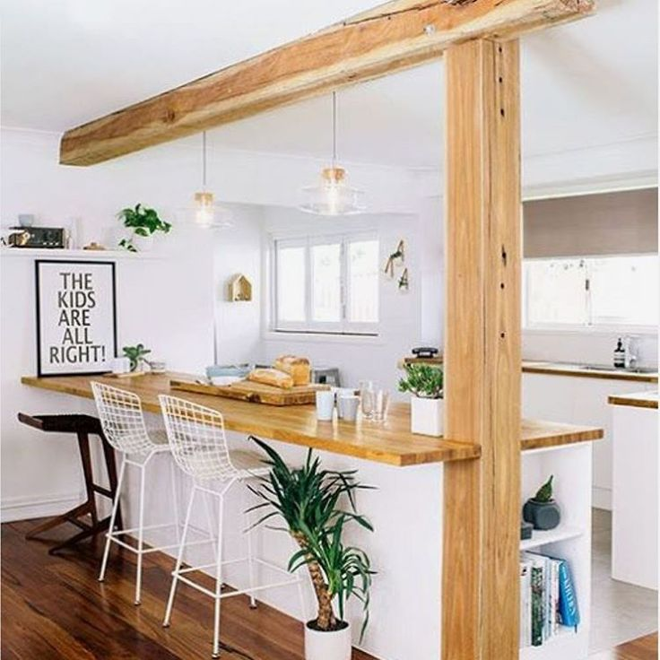 Wood in the kitchen. | Home Inspiration